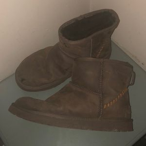 Ugg mini deco brown boots men's 12 warm 1006523